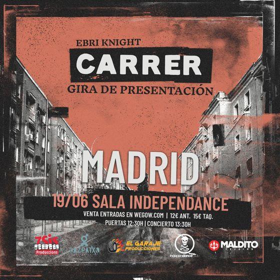Ebri Knight: Concierto en Madrid el 19 de junio