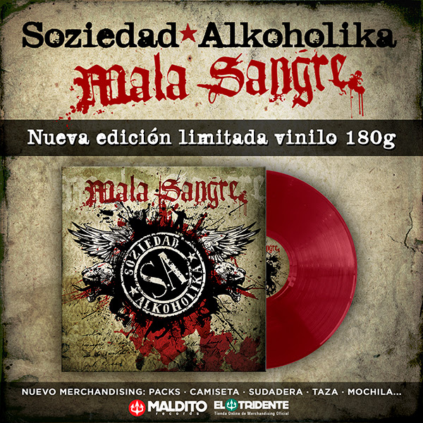 SOZIEDAD ALKOHOLIKA: Edita su álbum 'Mala Sangre' en un exclusivo formato vinilo, de color rojo y 180 gramos