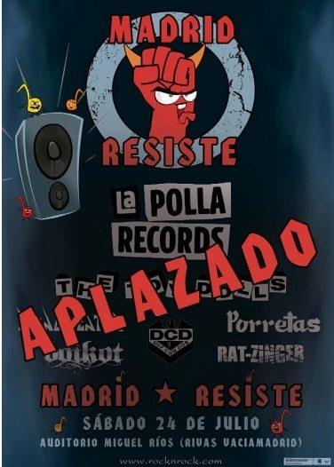 El Festival Madrid Resiste 2021 ha sido aplazado