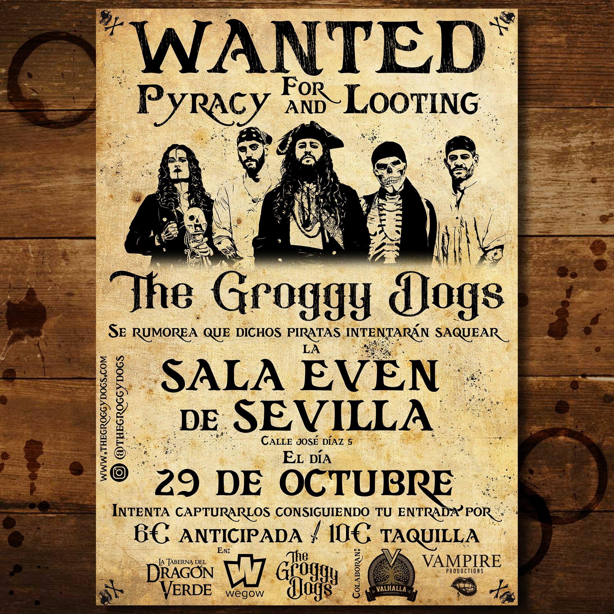 The Groggy Dogs 29 de octubre – Sala Even (sevilla)