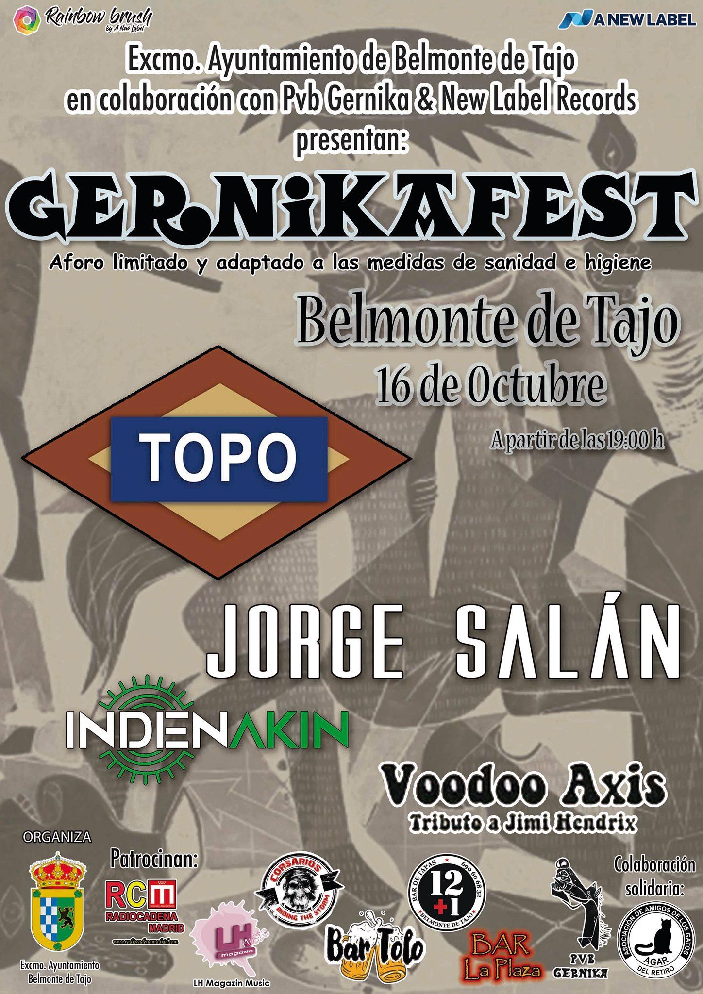 Gernika Fest – 16 de octubre en Belmonte De Tajo (Madrid)